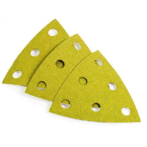 fogli abrasivi velcrati triangolari