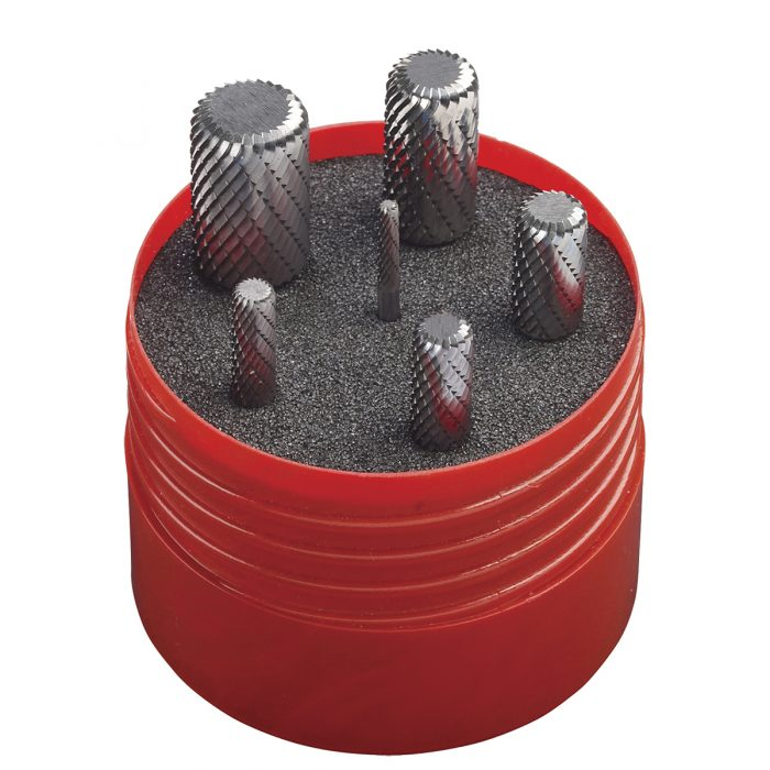 set frese in metallo duro - corner radius - 6pz