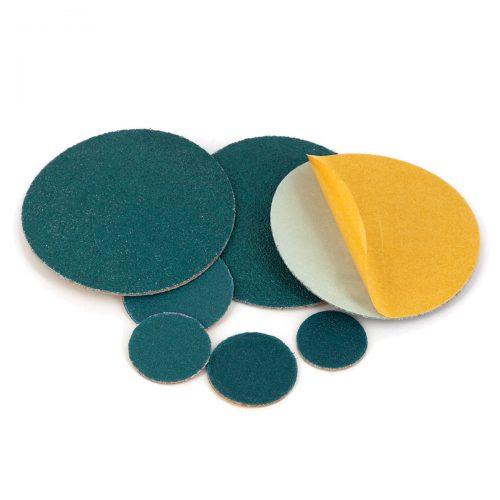 dischi adesivi in tela abrasiva allo zirconio